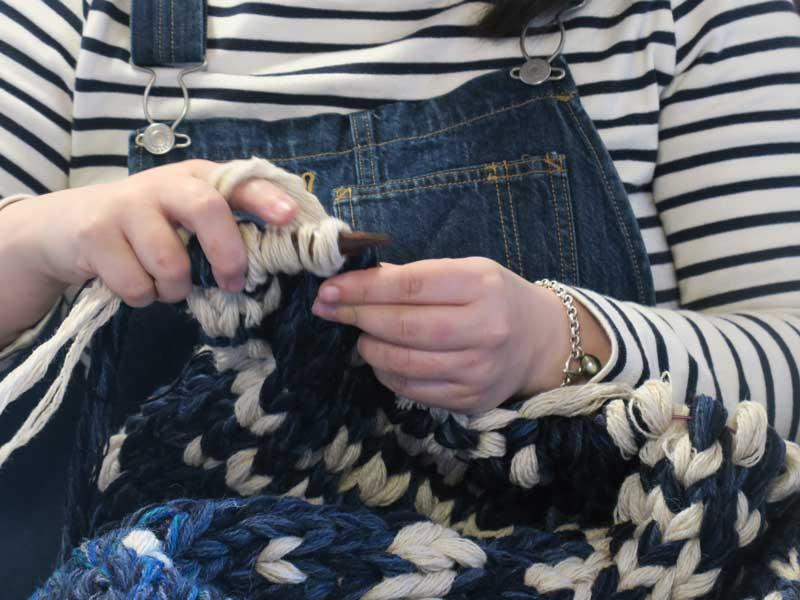 Marie Knitting